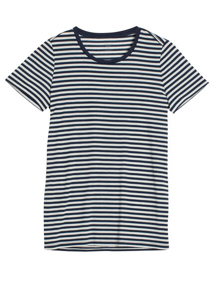 Tech Lite Short Sleeve Crewe Stripe