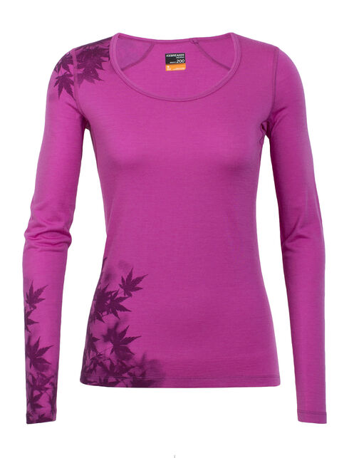 Oasis Long Sleeve Scoop Foliage