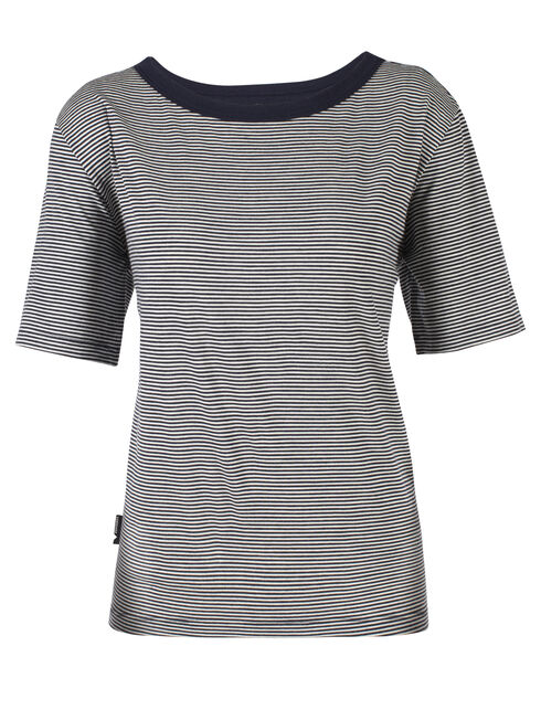 旅 TABI Luxe Lite Short Sleeve Crewe Stripe