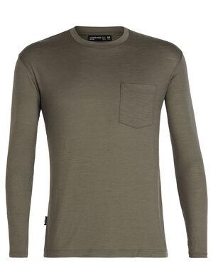 Tech Lite长袖圆领上衣(带口袋)
